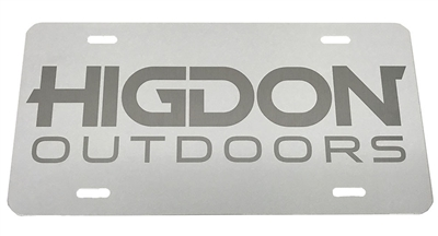 Painted Aluminum Logo License Plate-White