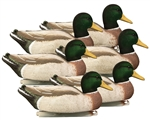 Magnum Mallard, Foam Filled, Flocked Heads All Drake Pack