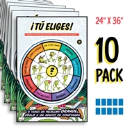 Kelso's Choice Wheel Full-Color Spanish Posters (10 Pack)