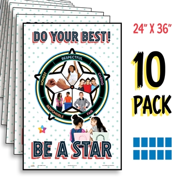 Kelso Star Poster Set For Grades 4-5 (10 Pack)