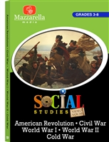 American Revolution, Civil War, Cold War, World War I, World War II