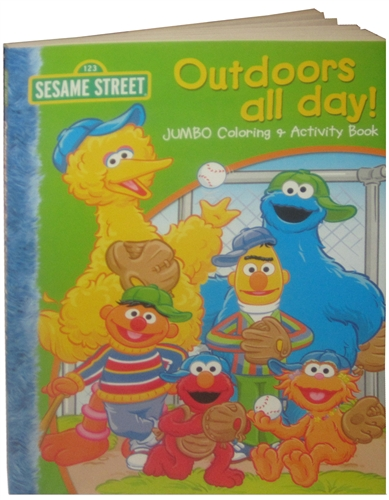 sesame street outdoors all day coloring book
