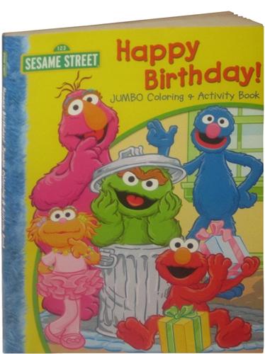 sesame street happy birthday coloring book