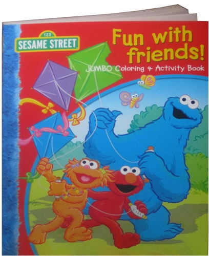 sesame street fun with friends coloring book