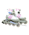 Pink & White Ultra-Wheels Transformer In-Line Skates Size 1-4