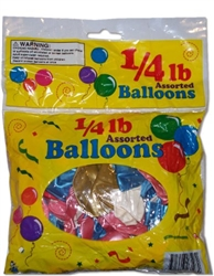 1/4 Lb Assorted Balloons