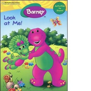 barney look at me coloring and activity book - Barney Coloring Book