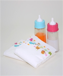 Lovably Mine Magic Doll Bottle with Diaper Set