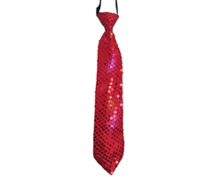 Red Tie with Flashing Lights