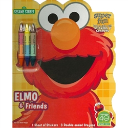 Elmo & Friends: Book to Color with Crayons & Stickers