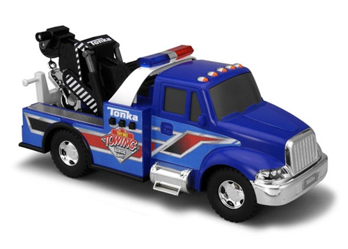 Tonka lights and sounds tow truck shop for a for Tonka mighty motorized cement mixer
