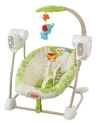 Fisher-Price SpaceSaver Swing and Seat, Forest Fun