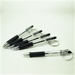 Pilot Black Ink Retractable Ball Point Pen Keychains - Set of Five