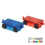 Playmags Clear Color 2 Piece Car Set