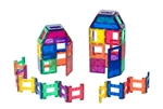 Playmags Clear Color Magnetic Tiles Building Set 48 Piece Acessories Set