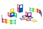 Playmags Clear Color Magnetic Tiles Building Set 24 Piece Acessories Set