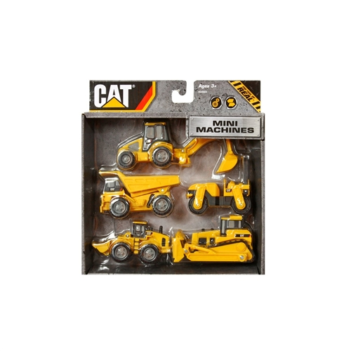Toystate caterpillar construction mini machine 5 pack for Tonka mighty motorized cement mixer