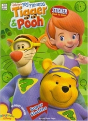 My Friends Tigger and Pooh Super Sleuths Sticker Book to Color