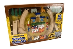 wood train track set
