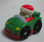 Little People Christmas Wheelies Santa in Green Car