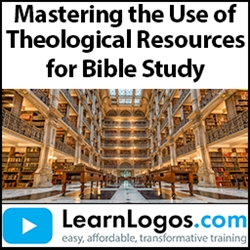 Mastering the Use of Theological Resources