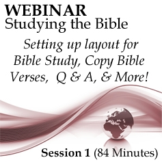 Webinar #01 Studying the Bible