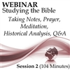 Webinar #02 Studying the Bible