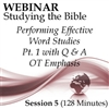 Webinar #05 Studying the Bible