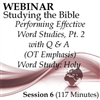 Webinar #06 Studying the Bible