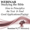 Webinar #09 Studying the Bible