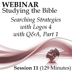 Webinar #11 Studying the Bible