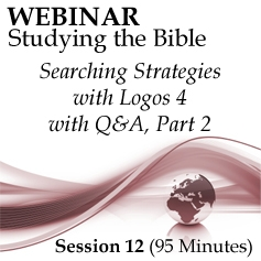 Webinar #12 Studying the Bible