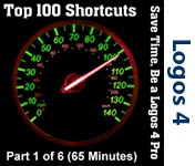 Top 100 Shortcuts for Logos 4 - Part 1/6 (Seminar/Webinar)