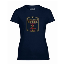 Bethlehem Steel FC Ladies Soft Style Short Sleeve Tee (Navy)