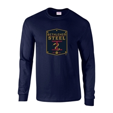 Bethlehem Steel FC Youth Ultra Cotton Long Sleeve Tee (Navy)