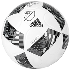 Adidas MLS 2016 NFHS MLS Nativo Top Training Soccer Ball (White/Black/Iron Metallic)