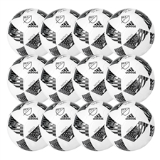 Adidas MLS 2016 NFHS MLS Nativo Top Training Soccer Ball 12 Pack (White/Black/Iron Metallic)