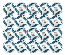 Adidas MLS 2016 MLS Nativo Glider Soccer Ball 20 Pack (White/Shock Blue/Black)