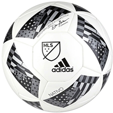 Adidas MLS 2016 NFHS MLS Nativo Competition Soccer Ball (White/Black/Iron Metallic)