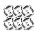 Adidas MLS 2016 NFHS Nativo Competition Soccer Ball 6 Pack (White/Black/Iron Metallic)