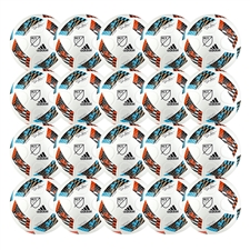 Adidas MLS 2016 Nativo Top Glider Soccer Ball 20 Pack (White/Shock Blue/Red/Black)