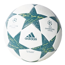 Adidas Finale 16 Top Training Soccer Ball (White/Vapor Steel/Tech Green)