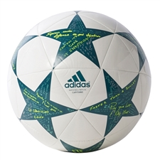 Adidas Finale 16 Capitano Soccer Ball (White/Vapor Steel/Tech Green)