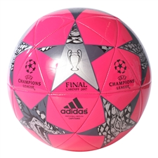 Adidas Finale Cardiff Capitano Soccer Ball (Shock Pink/Black/Night Metallic)