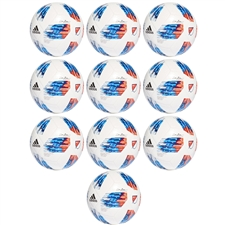 Adidas 2018 MLS Top Glider Soccer Ball 10 Pack (White/Ash Blue/Night Indigo/Power Red)