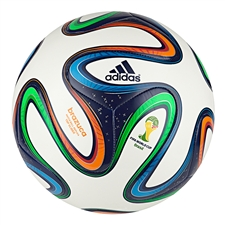 Adidas Brazuca Top Glider Soccer Ball (White/Night Blue/Multi Colored)