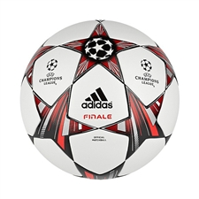 Adidas Finale 13 Official Champions League Match Soccer Ball (White/Black/Metallic Silver)