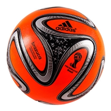 Adidas Brazuca Winter Official Match Ball (Warning/Black/Metallic Silver/White) |G73648| FREE SHIPPING
