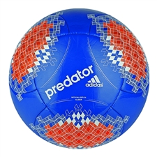 Adidas Predator Glider Soccer Ball (Pride Blue/Orange/White/Black)