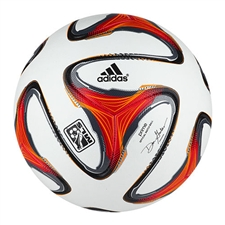 Adidas MLS 2014 Official Match Ball (White/Red/Solar Zest) |G82882| FREE SHIPPING